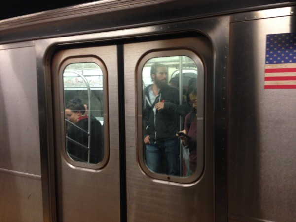 me on the NYC subway